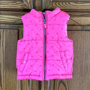 Carters 3T puffy vest—hearts
